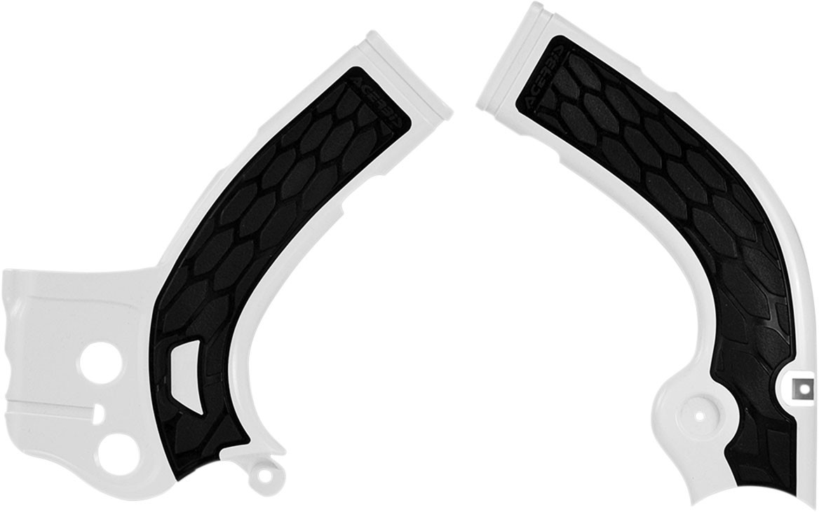 ACERBIS X-Grip Frame Guards (White/Black)