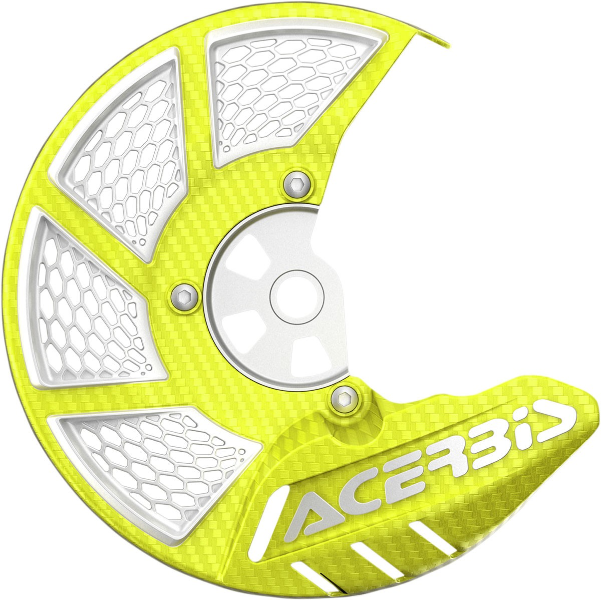 ACERBIS X-Brake Vented Front Disc Cover (Fluorescent Yellow/White)