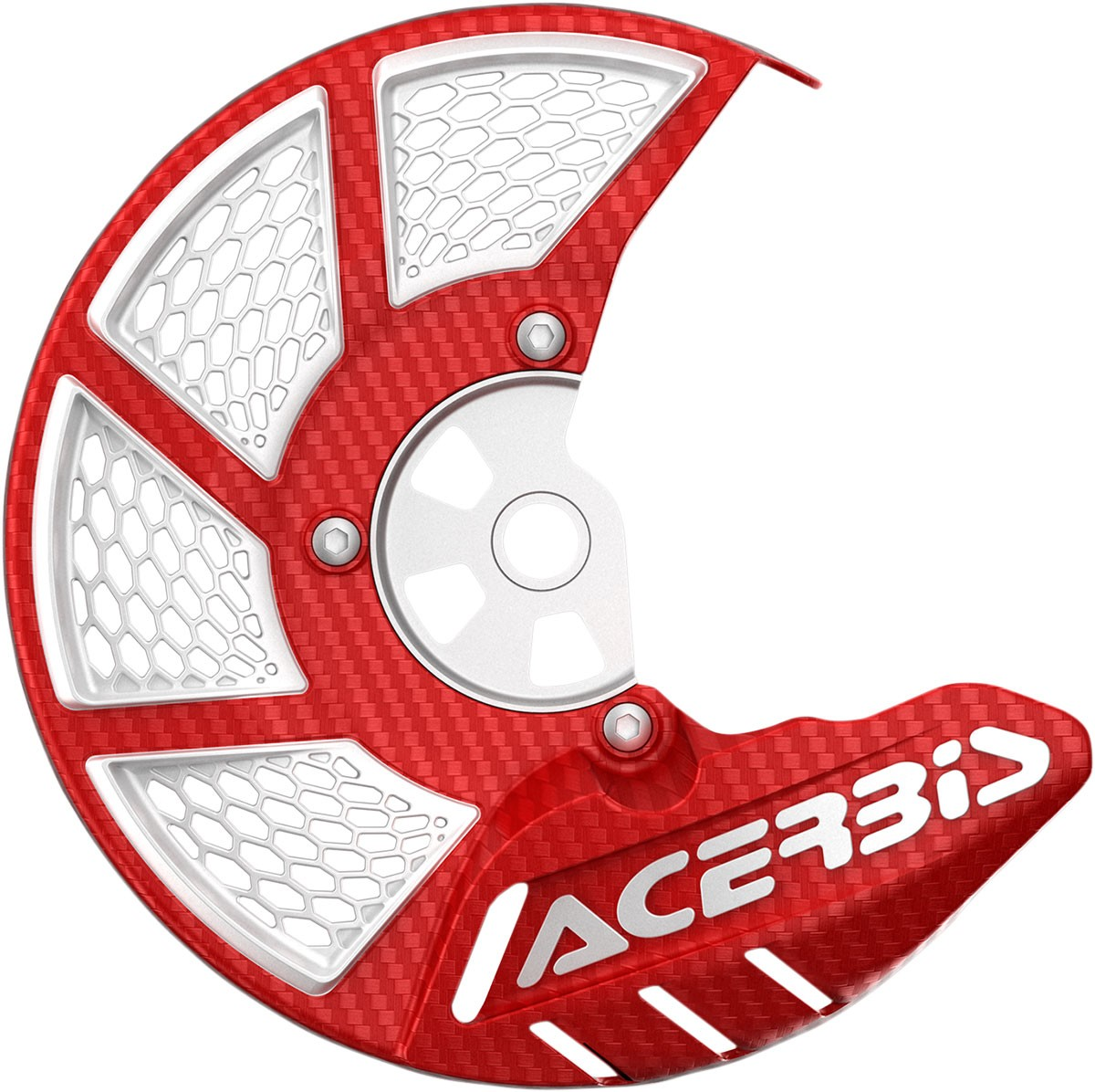 ACERBIS X-Brake Vented Front Disc Cover (Red/White)