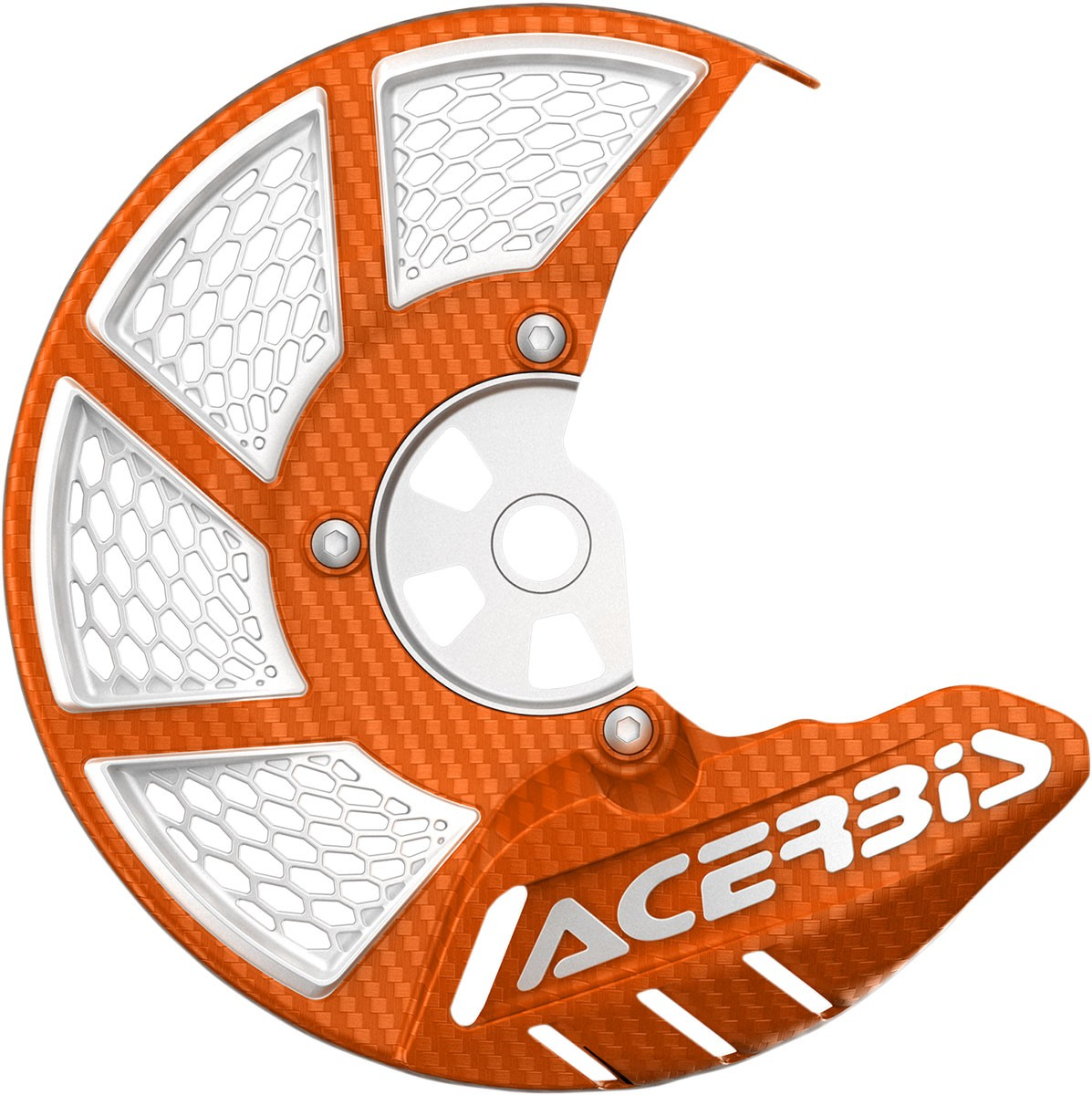 ACERBIS X-Brake Vented Front Disc Cover (Orange/White)