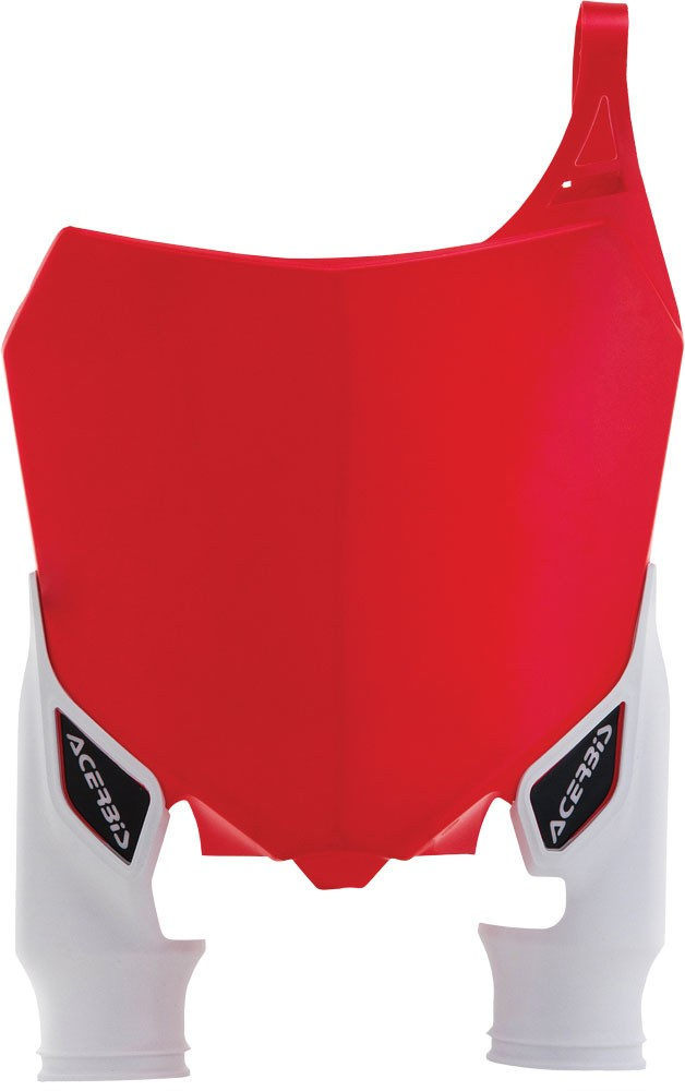 ACERBIS Front Number Plate (Red/White)