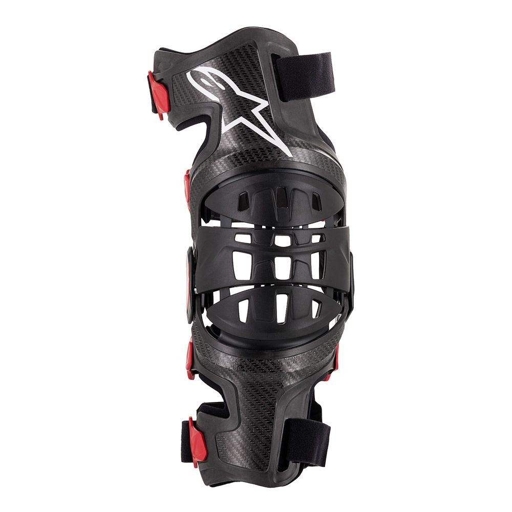 Mx Knee Braces >> Alpinestars Mx Motocross Bionic 10 Carbon Knee Brace Right Black Red