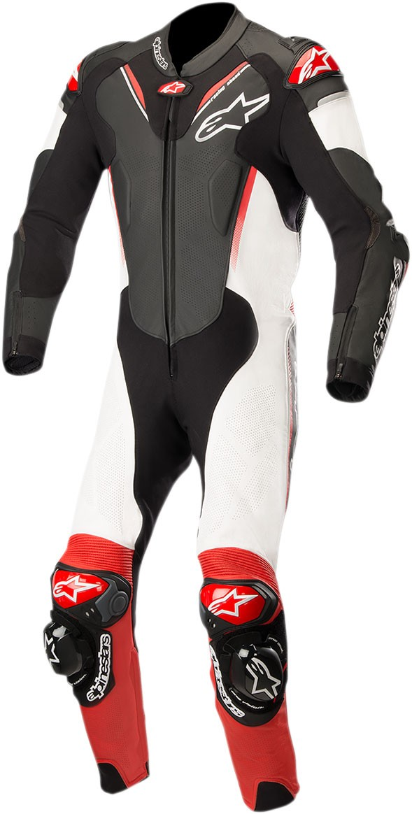 6400711b9ad Alpinestars ATEM v3 1-Piece Leather Motorcycle Riding Suit (Black/White/Red)