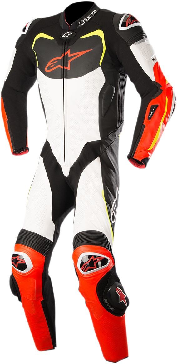 2eb4130eb0ed6 Alpinestars GP PRO Leather Motorcycle Riding Suit Tech-Air Compatible (Black/White/Flo  Red/Flo Yellow)