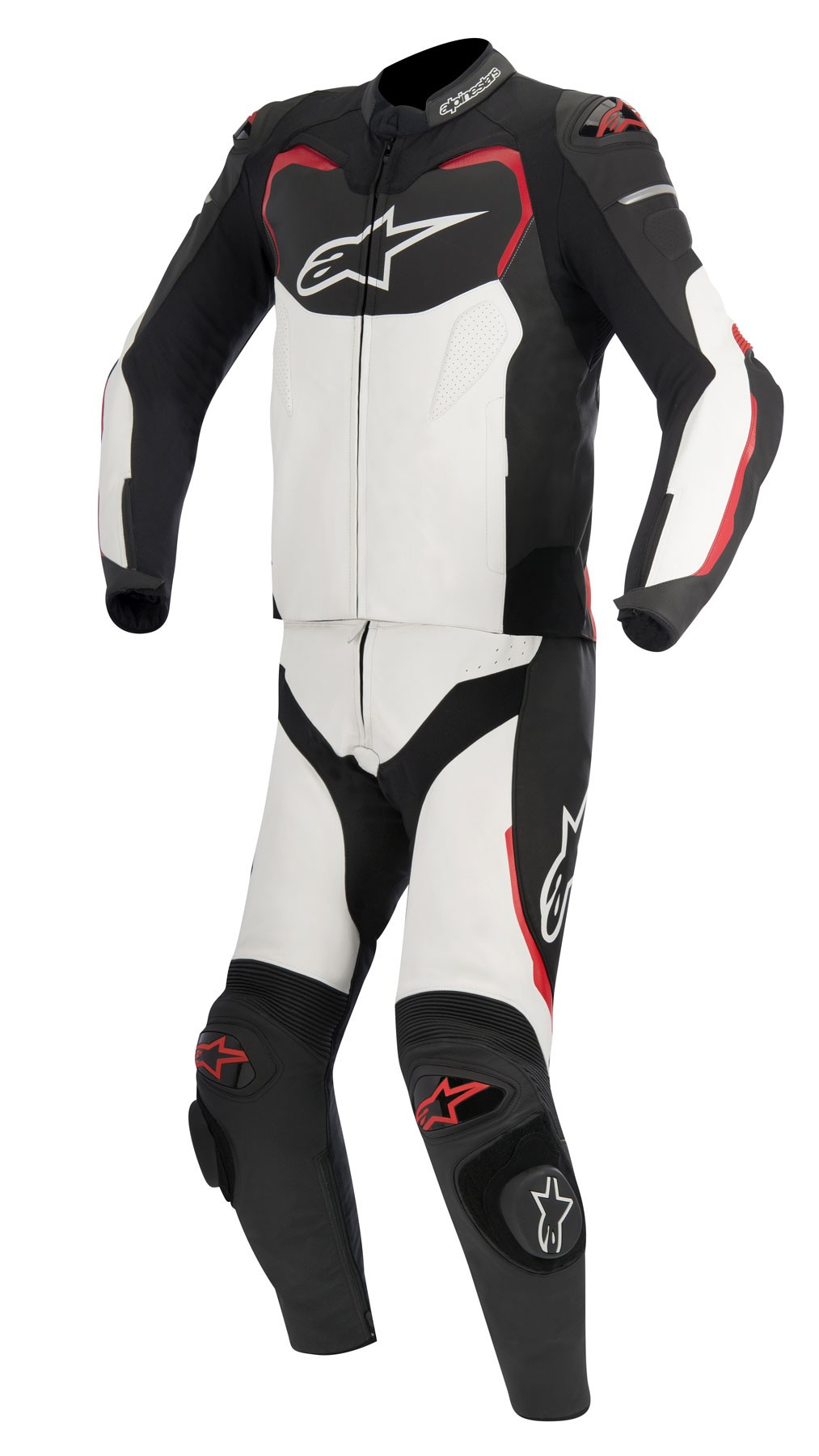 Alpinestars GP PRO 2-Piece Leather Suit (Black/White/Red)
