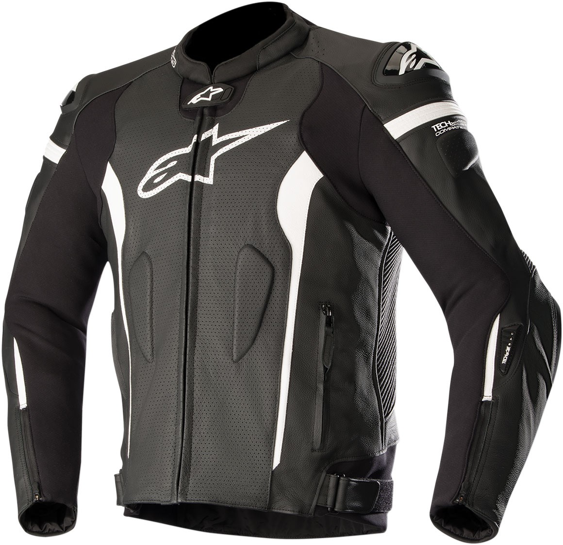 Alpinestars MISSILE Leather Jacket Tech-Air Compatible (Black/White)
