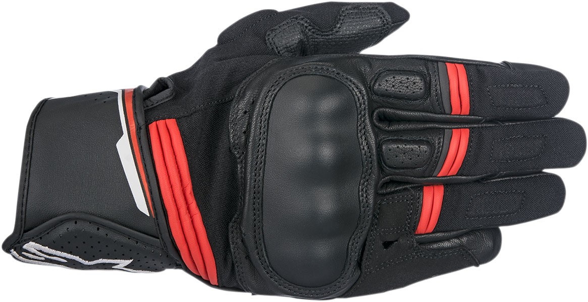 Alpinestars BOOSTER Leather Gloves (Black/Red)