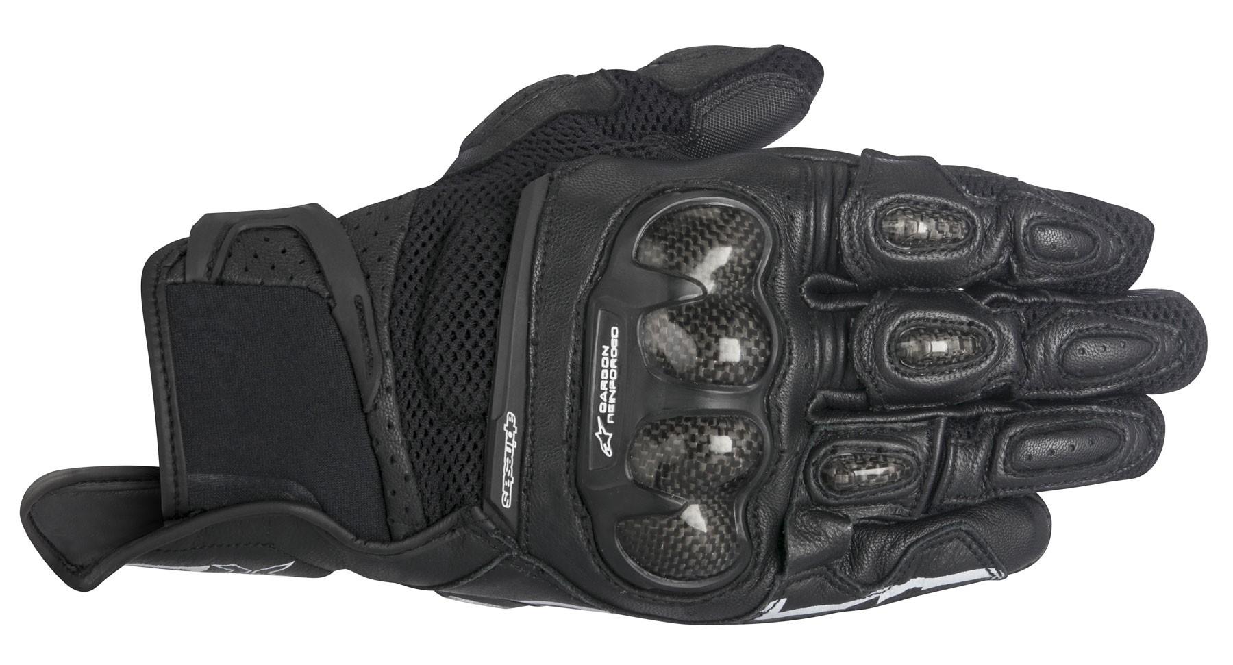 Black riding gloves - Alpinestars 2016 Stella Spx Air Carbon Leather Mesh Motorcycle Riding Gloves Black