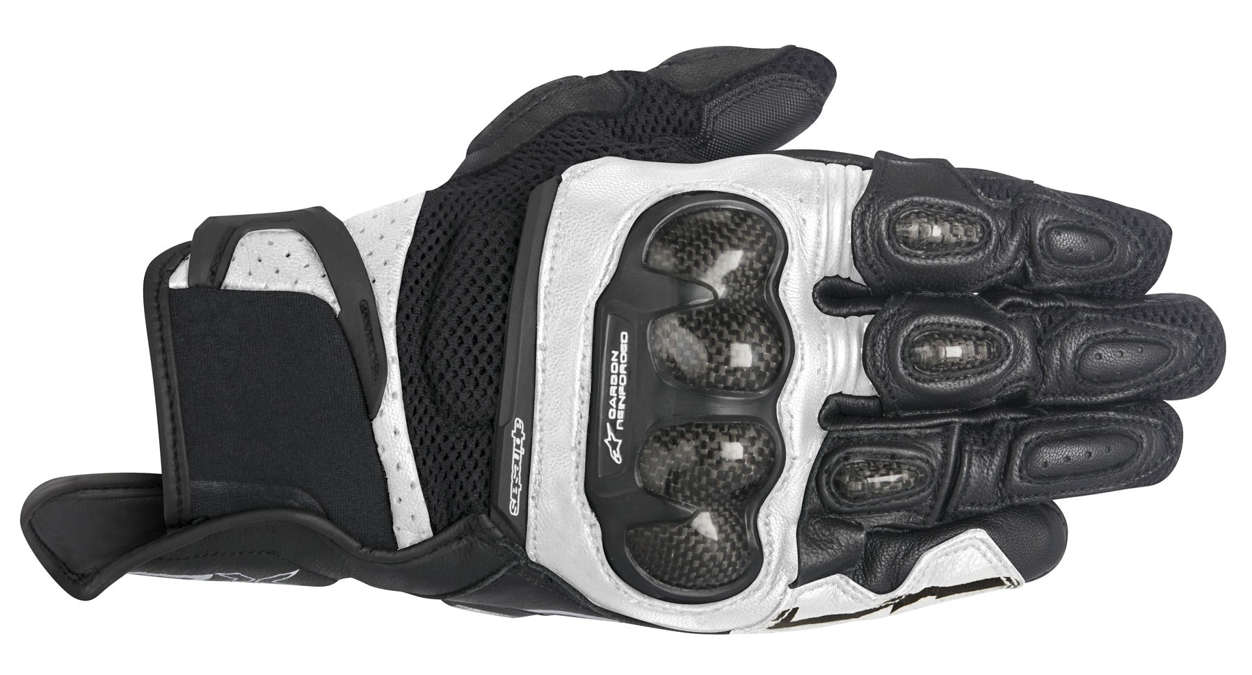 Alpinestars 2016 Stella Spx Air Carbon Leather Mesh Motorcycle Gloves Riding Black White