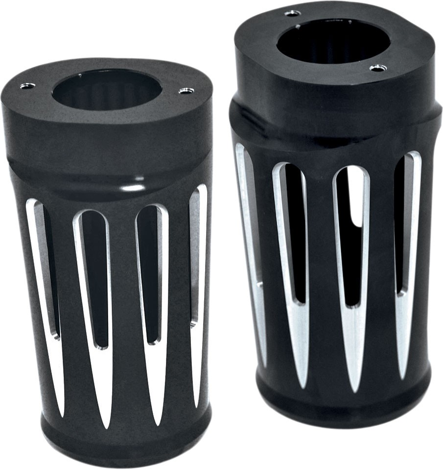 Arlen Ness - 20-024 - Deep Cut Fork Boot Covers, Black
