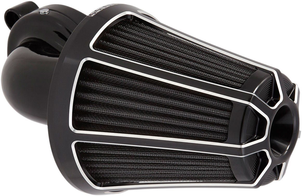 Arlen Ness - 81-003 - Monster Sucker Air Cleaner Kit, Beveled - Black