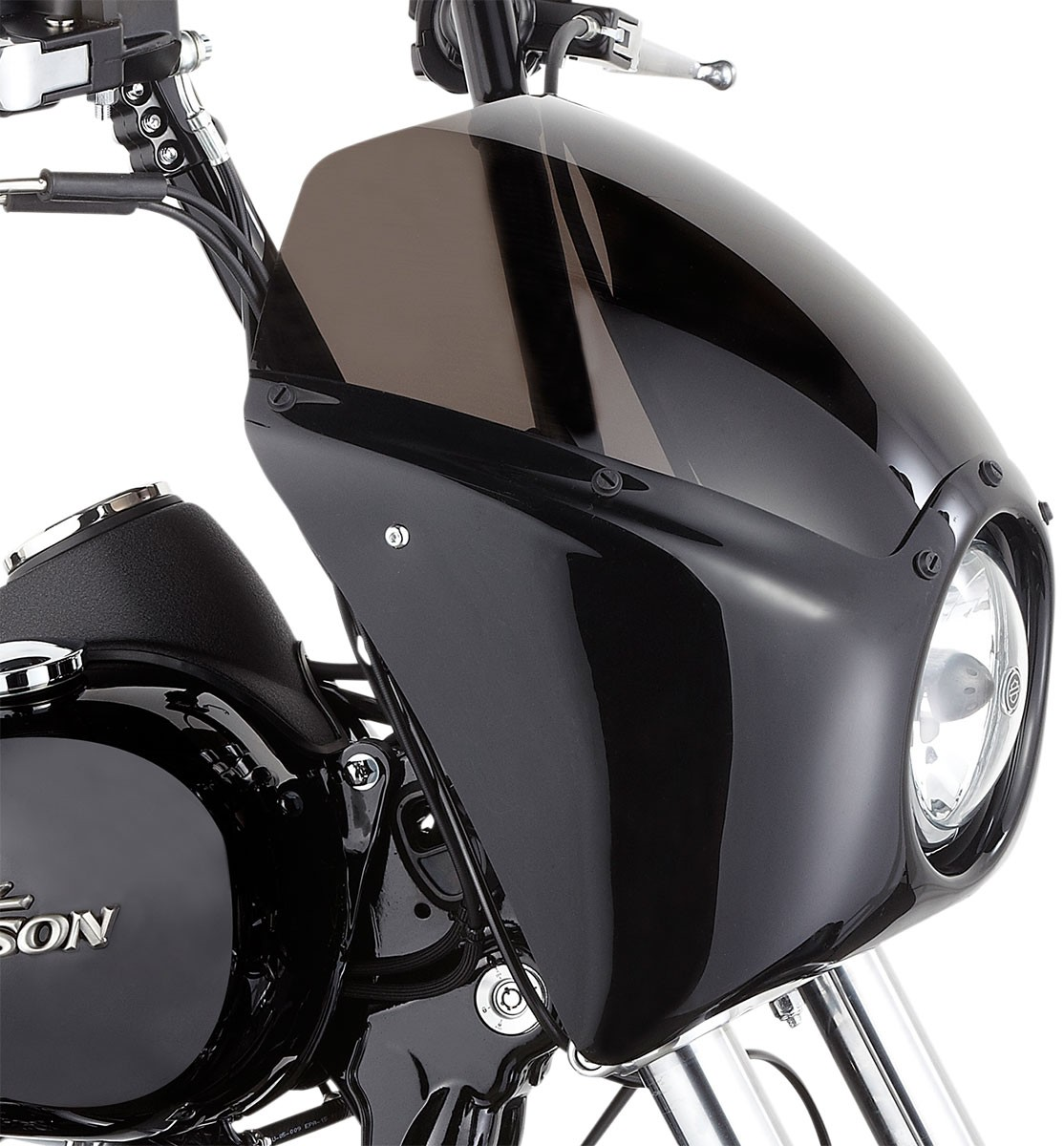 Arlen Ness - 06-033 - Direct Bolt-On Fairing, Gloss Black