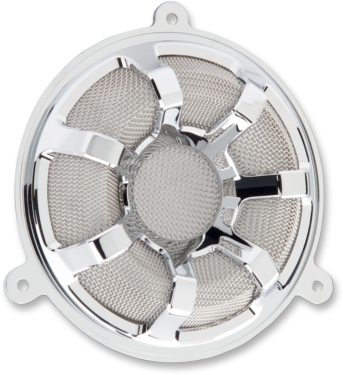 Arlen Ness - 03-909 - Beveled Speaker Grills, Chrome