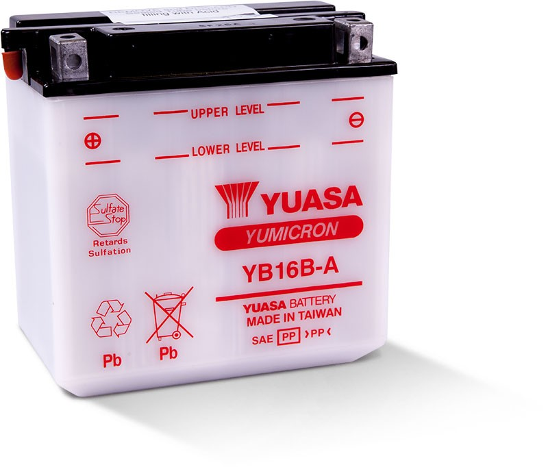 Yuasa Yumicron High Performance Conventional Battery (YB16B-A) YUAM2216B