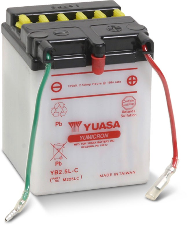 Yuasa Yumicron High Performance Conventional Battery (YB2.5L-C) YUAM225LC