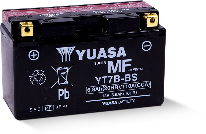 Yuasa Fresh Pack Maintenance-Free AGM Battery (YT7B-BS) YUAM62T7B