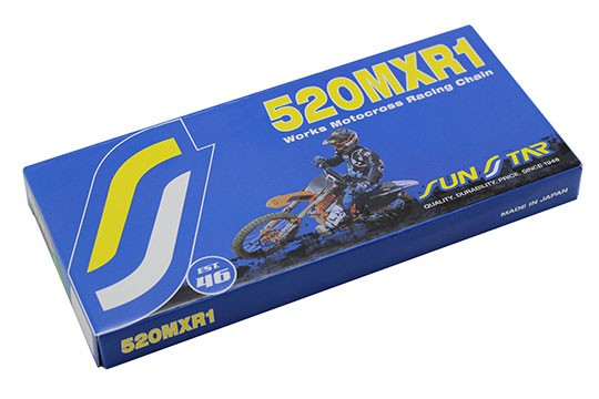 SUNSTAR 520 MXR1 Works MX/SX Race Series Non-Sealed Chain (Gold) 120 Links