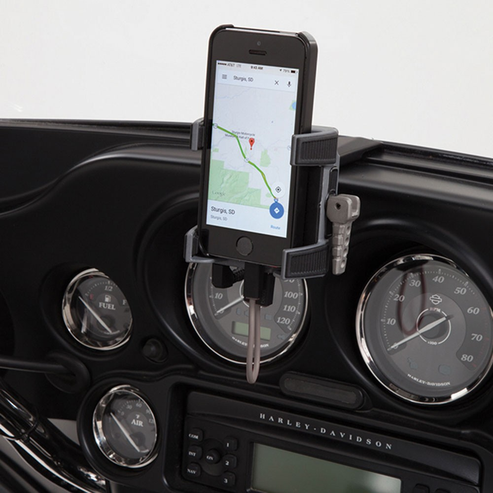 CIRO SmartPhone/GPS Holder w/USB Port (Fairing Mount)