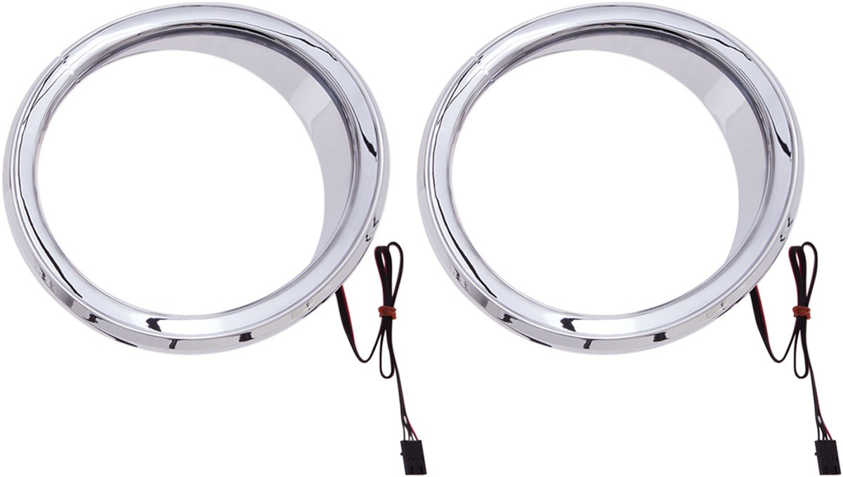 CIRO Chrome Front Speaker Accents w/ LED Accent Lights (Chrome w/ LEDs)