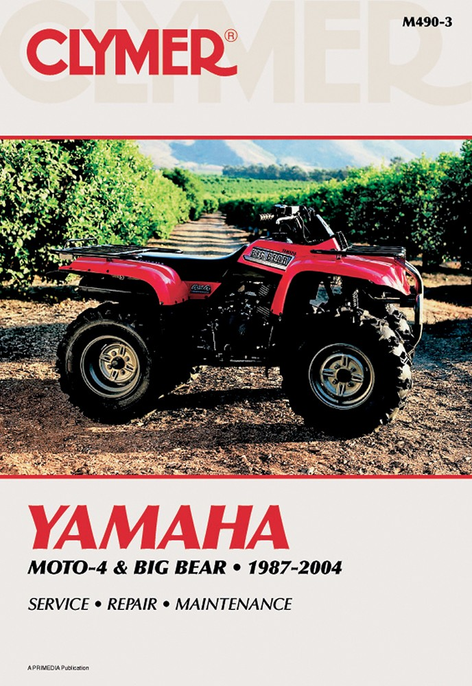 Clymer Repair Manual for YAMAHA YFM350 2-WD 4-WD Moto-4, ...