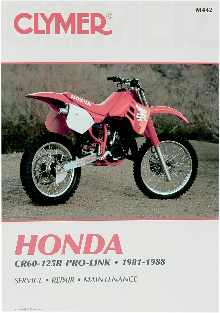 clymer repair manual for honda cr60r 1983-1984, cr80r 1981-1988, cr125r  1981-1988