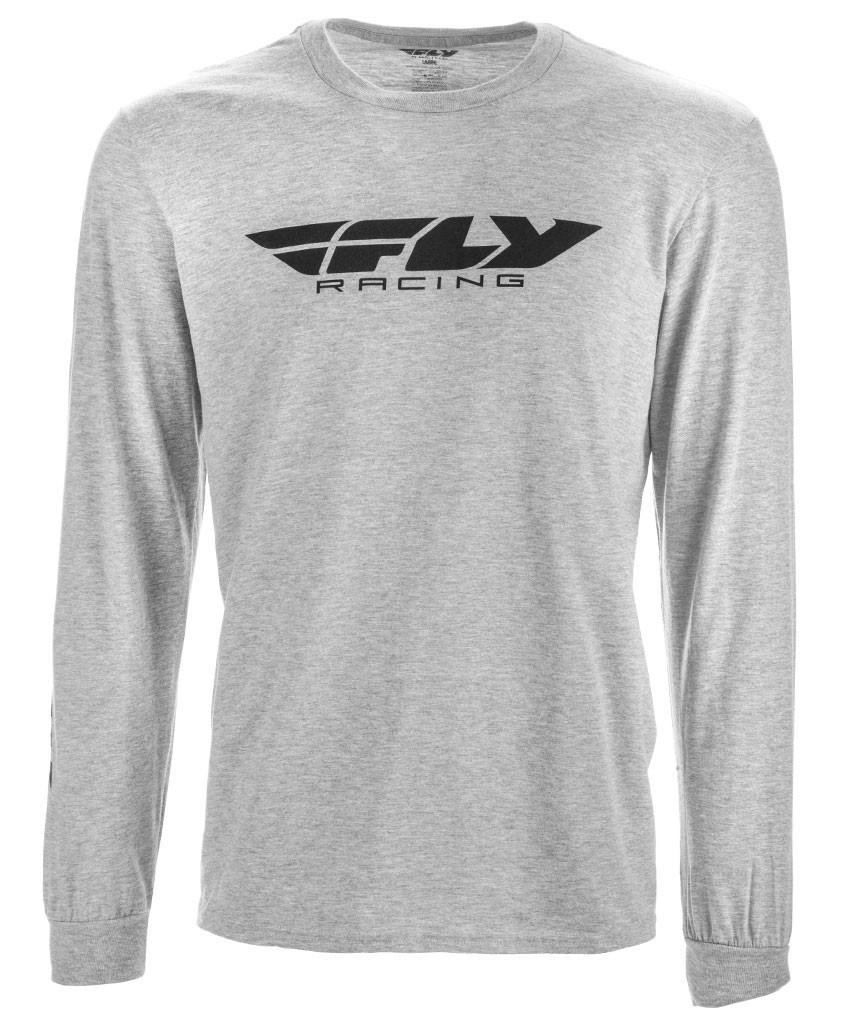 38d603558 Fly Racing MX Motocross MTB BMX 2018 Men's CORPORATE Long Sleeve Tee T-Shirt  (Grey)