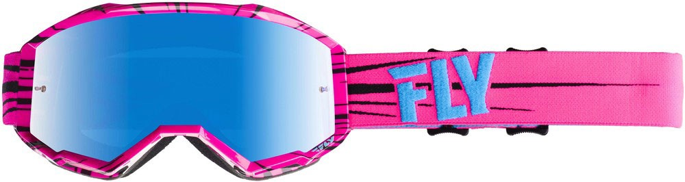 Fly Racing MX Motocross Kids Youth 2019 Zone Goggles (Pink/Teal w/Sky Blue Mirror Lens)