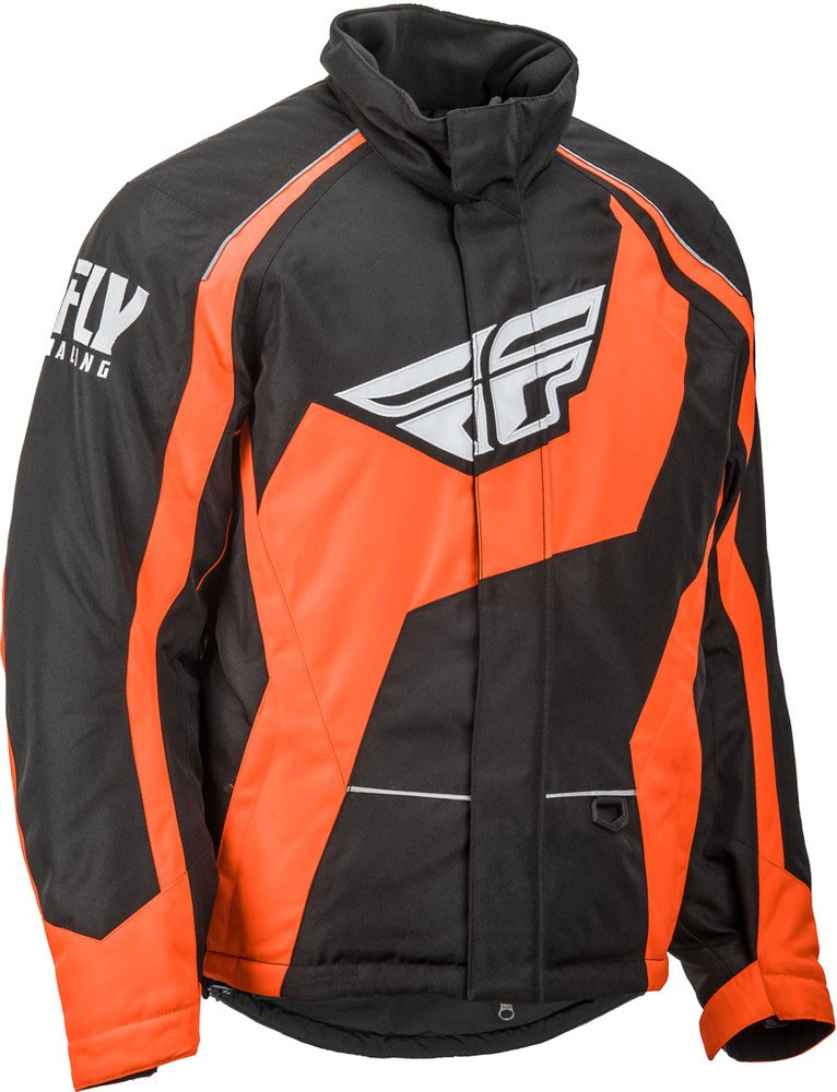 Fly Racing Snowmobile Outpost Jacket (Black/Orange)