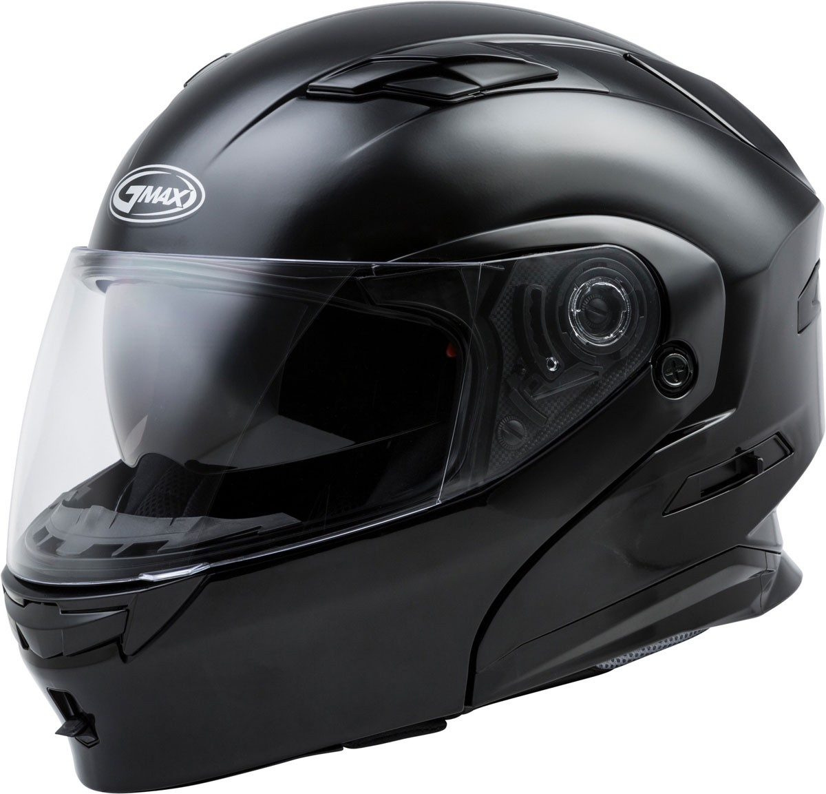 GMAX MD-01 Modular Flip-Up Motorcycle Helmet w Drop-Down Sun Visor (Gloss  Black) 9da23a8c543
