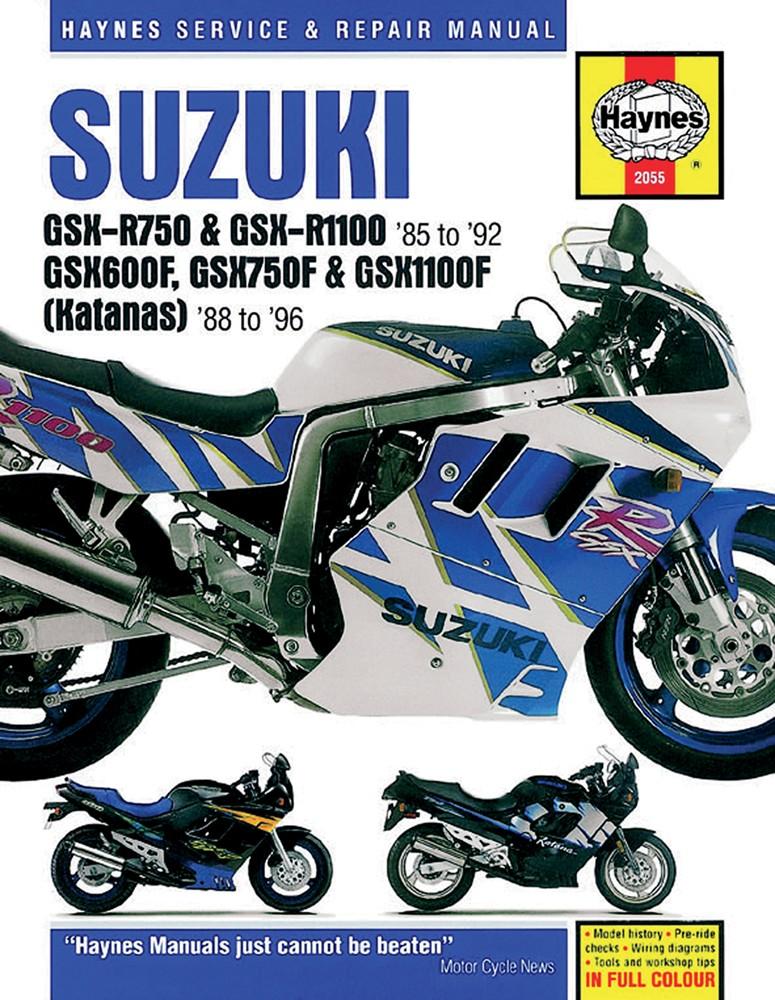 Repair Manual Suzuki Katana GSX600F GSX750F GSX1100F 19881996 – Katana Gsx600f Engine Diagram