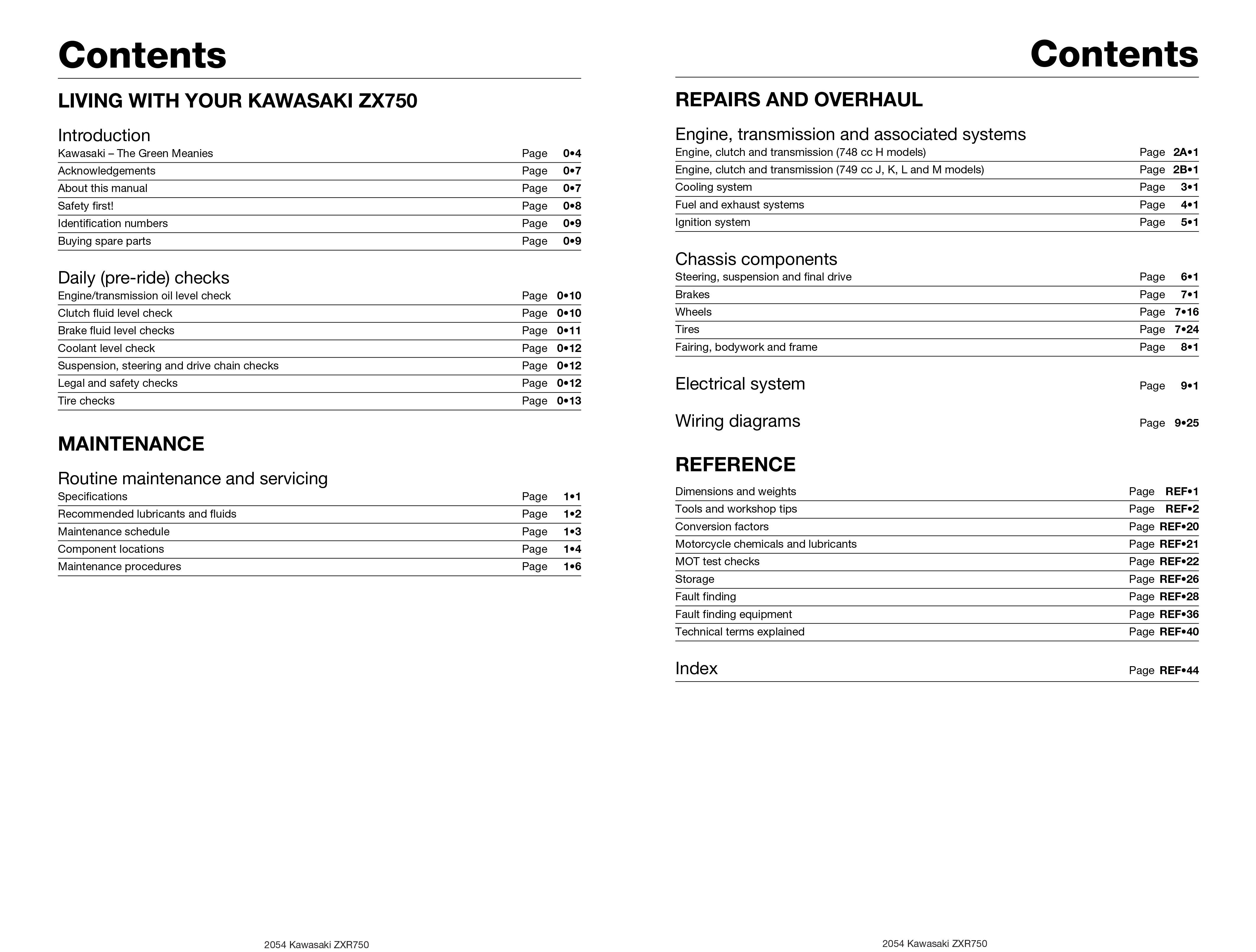 Haynes Repair Manual Kawasaki Zx750 Ninja Zx 7 Zxr750 Fours Zr 7s Wiring Diagram 89 96