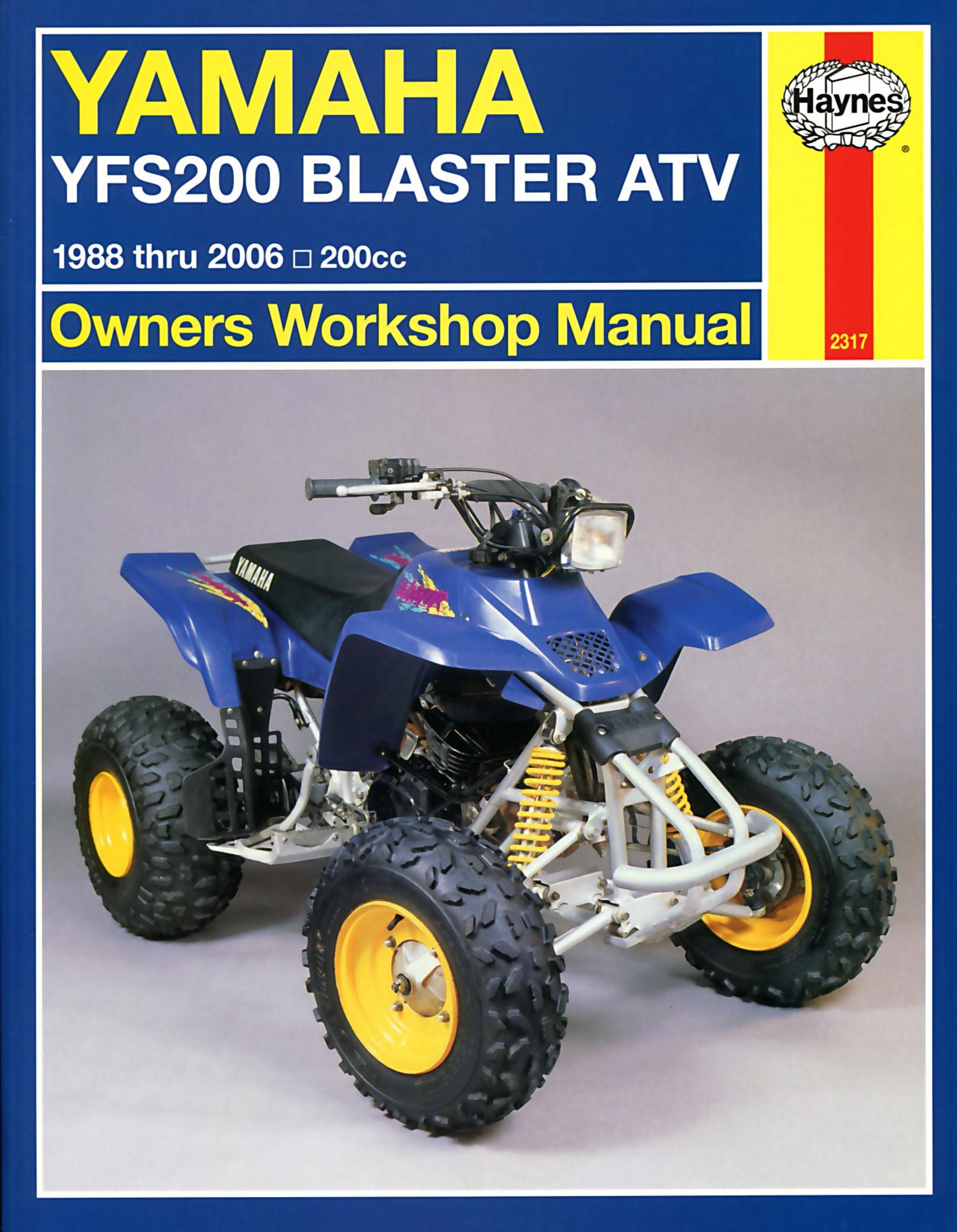 HAYNES Repair Manual - Yamaha YFS200 Blaster ATV (1988-2006) on