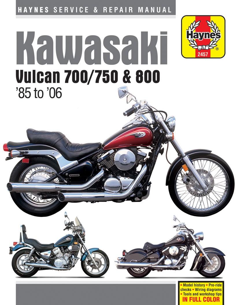 Haynes Repair Manual Kawasaki Vulcan 700 1985 750 04 Wiring Diagram 800 1995 Classic 1996 02