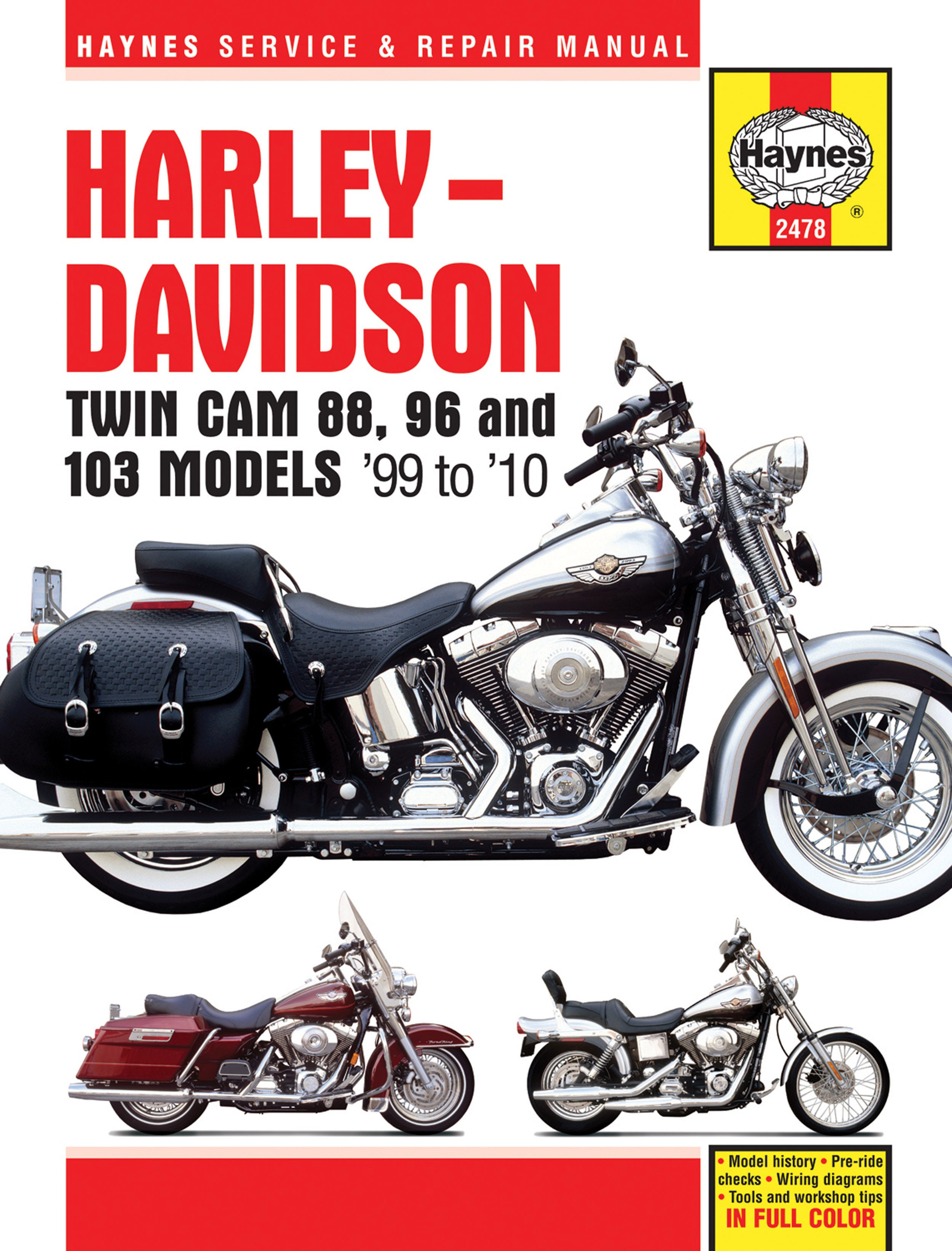 HAYNES Repair Manual - Harley-Davidson Twin Cam 88 Softail (2000-2010),  Dyna Glide (1999-2010), and Electra Glide/Road King ...
