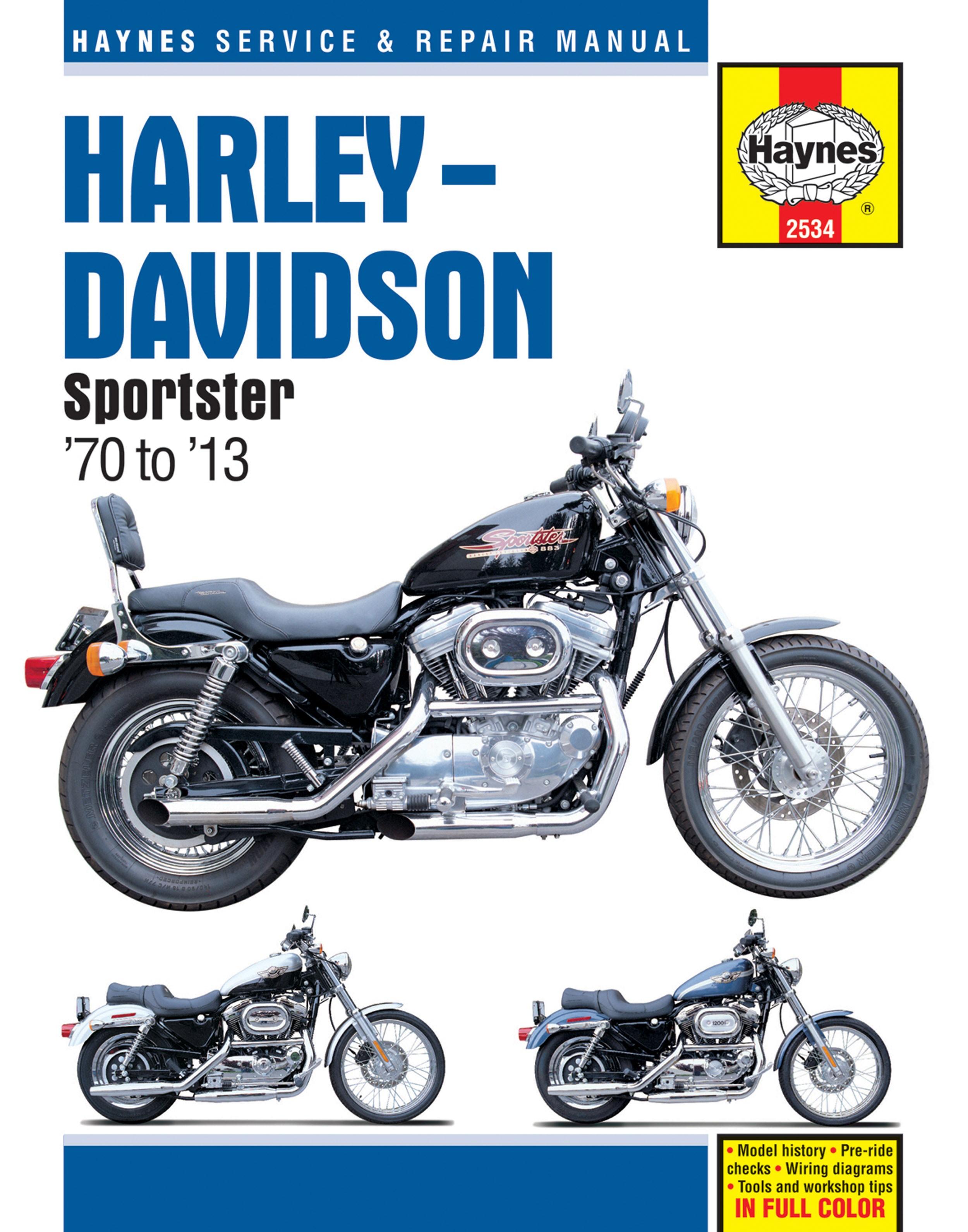HAYNES Repair Manual - Harley-Davidson Sportster XL, XLH, XLCH, XLS, XLX  883/1000/1100/1200 ...