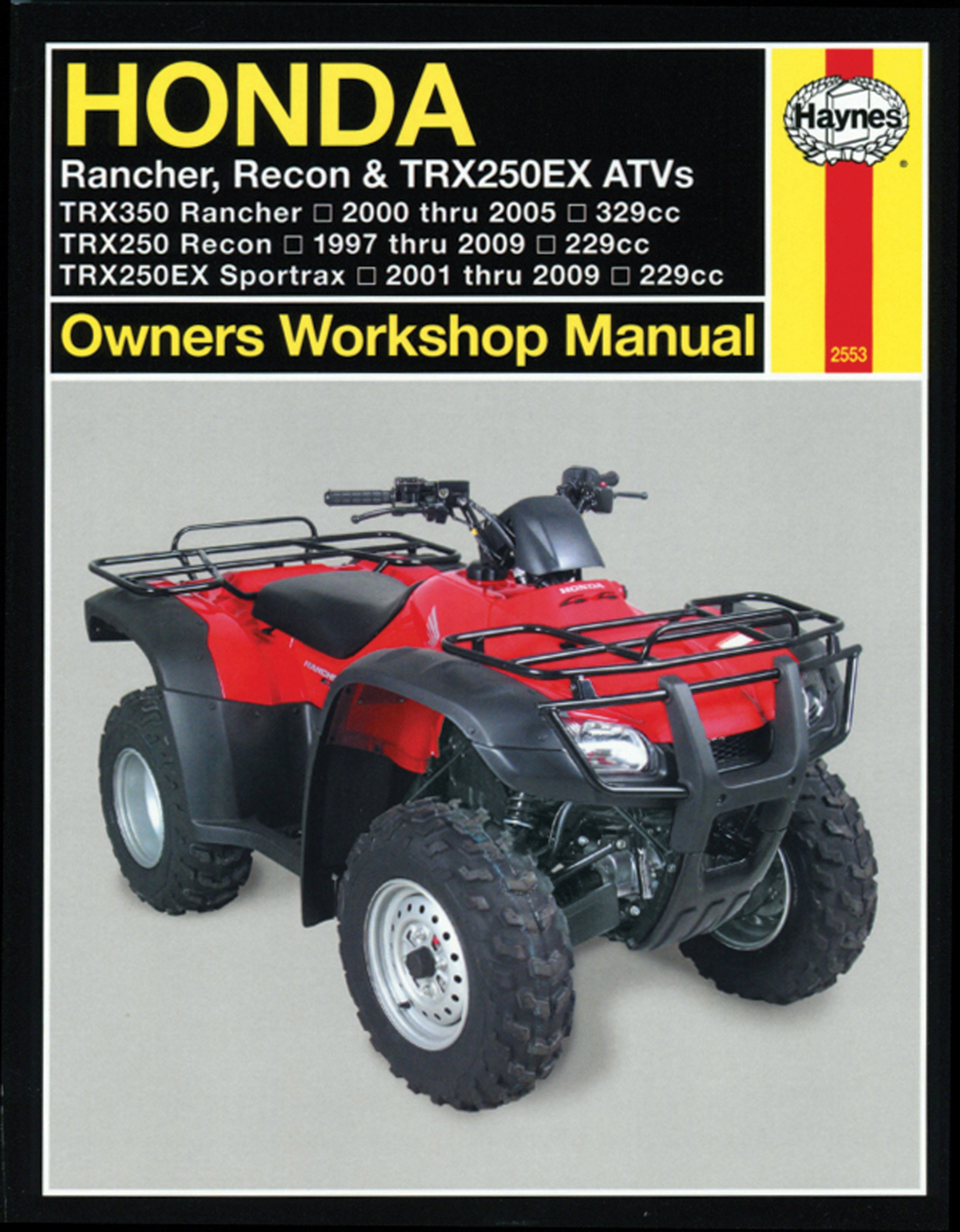 HAYNES Repair Manual - Honda TRX250 Recon 1997-09 / TRX250EX Sportrax 2001-09  / TRX350 Rancher 2000-05