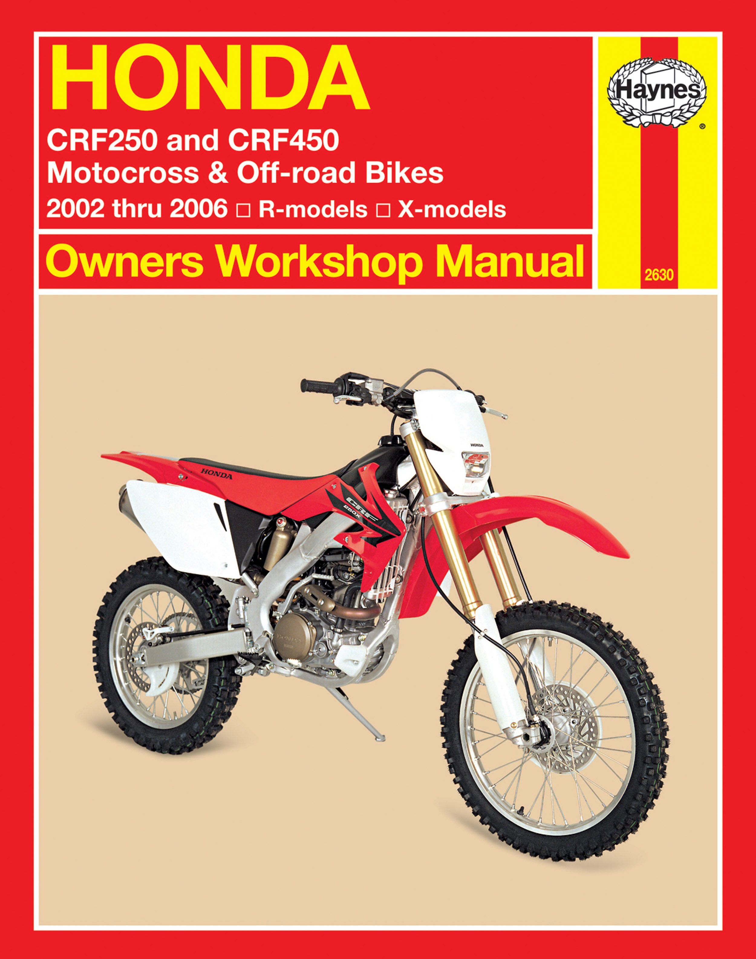 HAYNES Repair Manual - Honda CRF250R/CRF250X (2004-2006) CRF450R (2002-2006)  CRF450X (2005-2006)