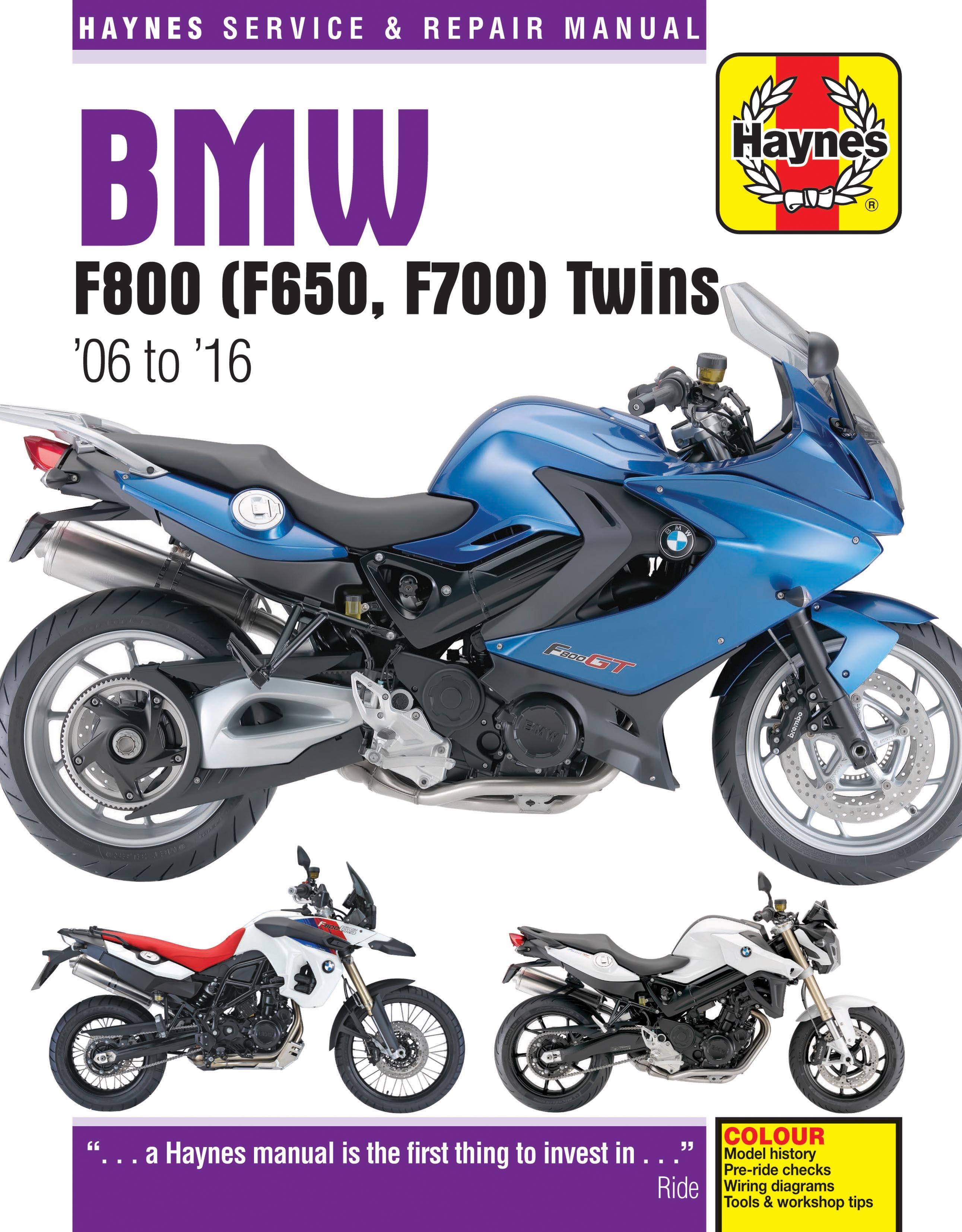 HAYNES Repair Manual - BMW F800 and F650 Twins (2006-2010)-H | Bmw F800gs Motorcycle Wiring Diagram |  | Motorcycle Works