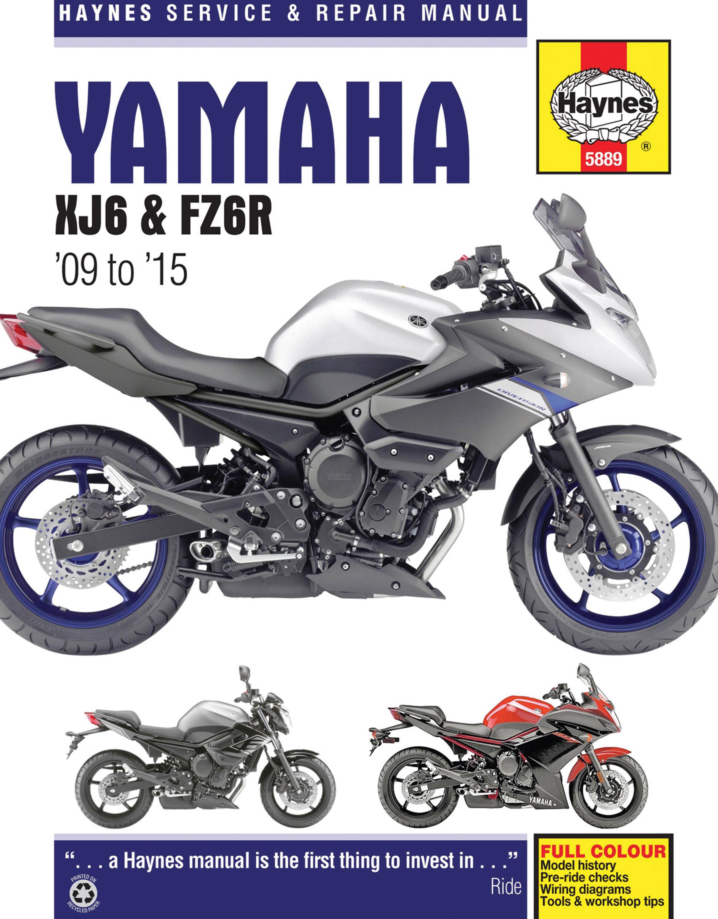 Haynes Repair Manual Yamaha Xj6 Fz6r Wiring Diagrams
