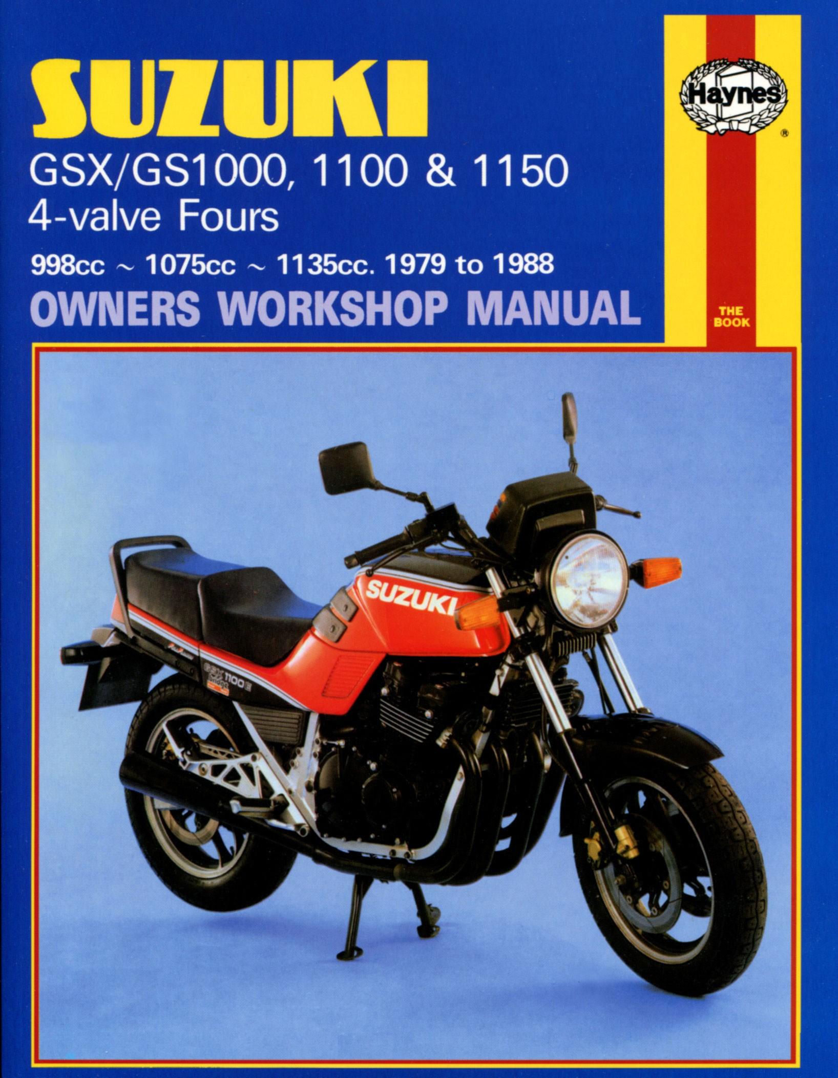 HAYNES Repair Manual - Suzuki GSX/GS1000, 1100, 1150 4-valve Fours  (1979-1988)