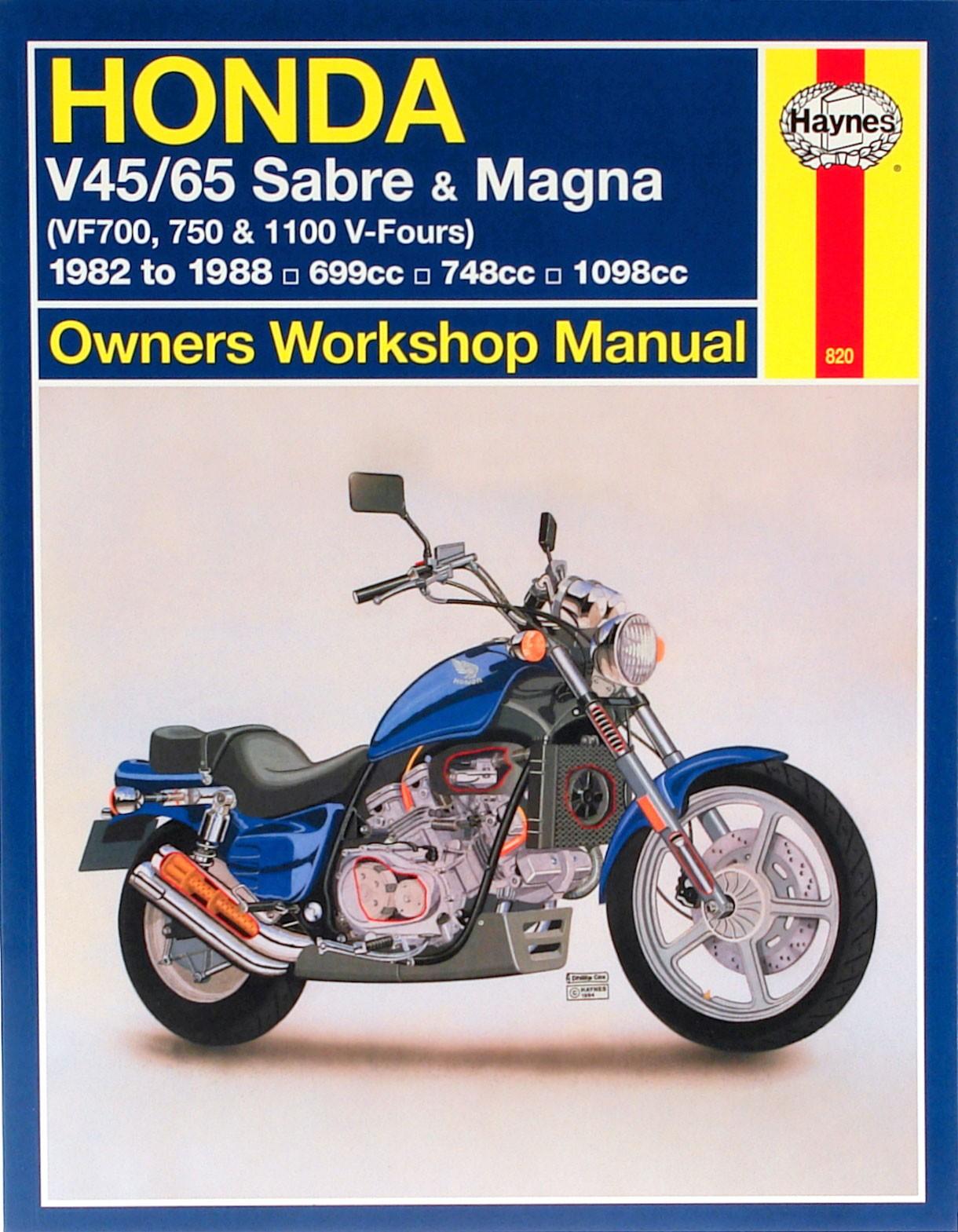 HAYNES Repair Manual - Honda 700/750 Sabre 82-85; 700/750 Magna 82-88; ...