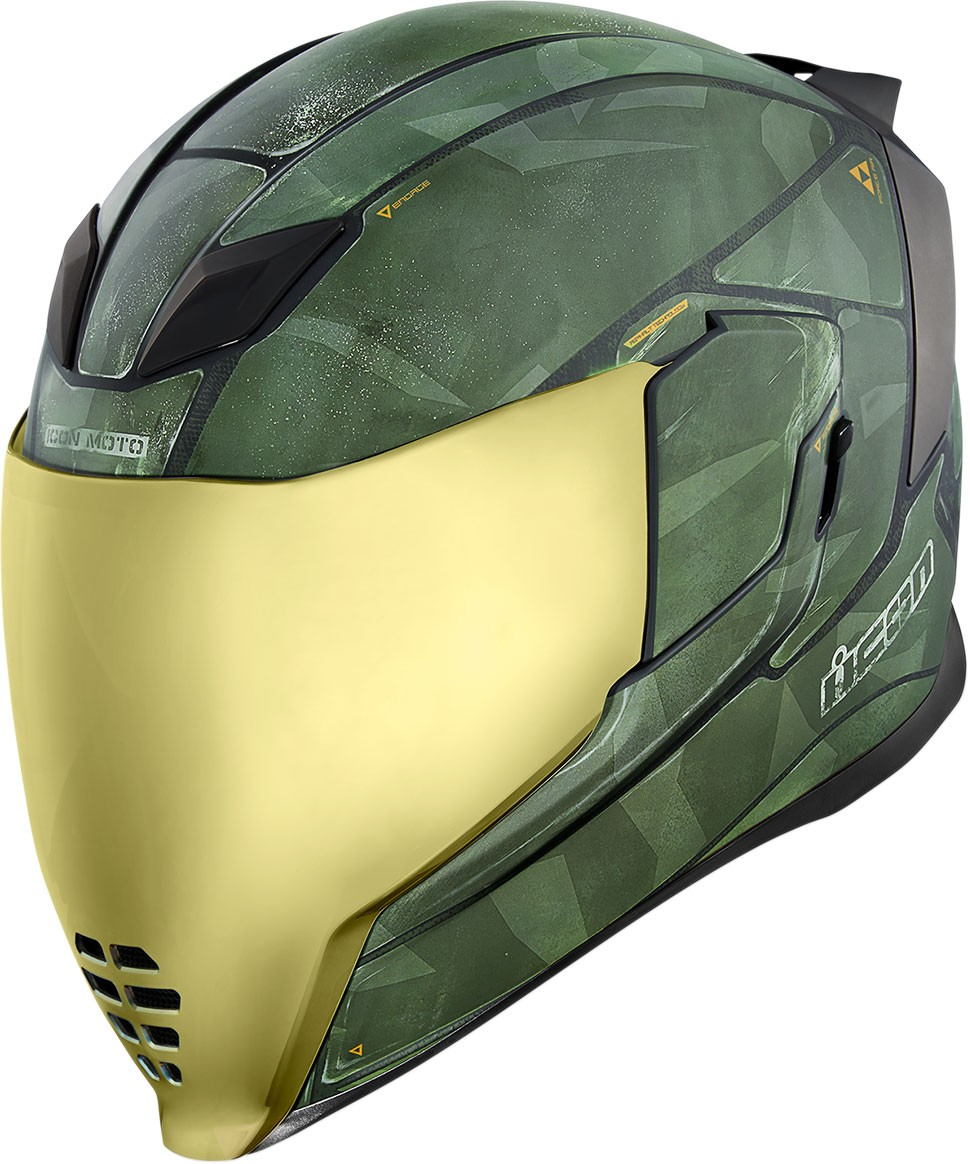 Icon Motosports Airflite BATTLESCAR 2 Full-Face Helmet (Green)