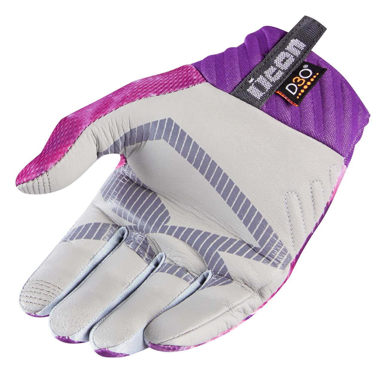 Motorcycle gloves pink - Icon Ladies Anthem Sweet Dreams Textile Touchscreen Motorcycle Gloves Pink Purple