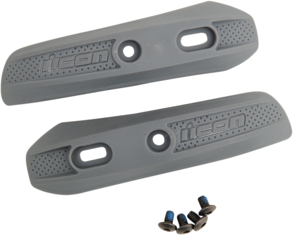 ICON Replacement Toe Scuff for OVERLORD Motorcycle Boots (Gray)