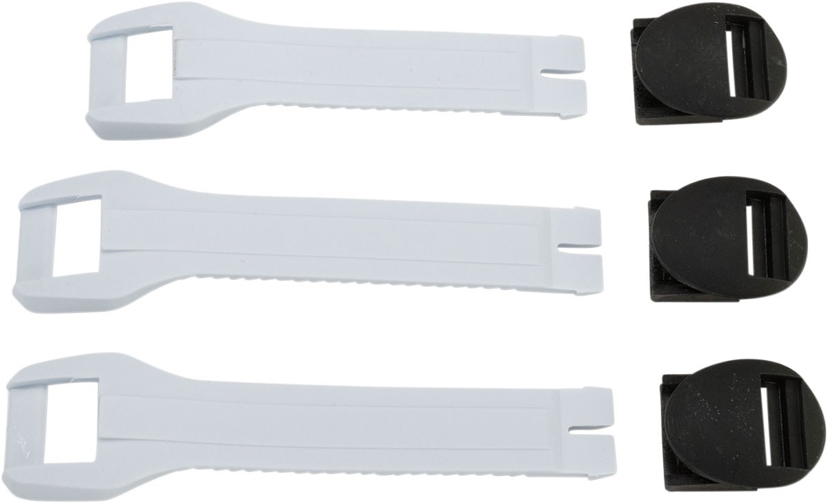 MOOSE Racing MX Motocross Replacement Strap Kit for Kids M1 2 Boots (White)