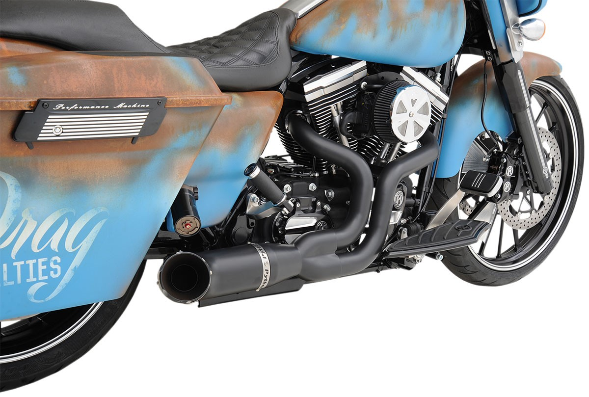 PYTHON RAYZER 2-into-1 Exhaust System (Black) for 07-16 Harley ...