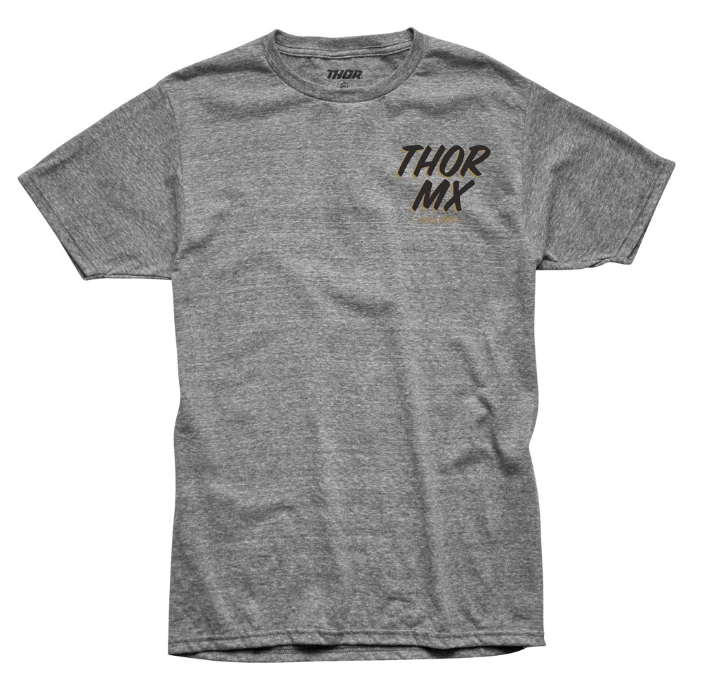 Thor MX Motocross Men's Doin' Dirt Tee (Heather Gray)