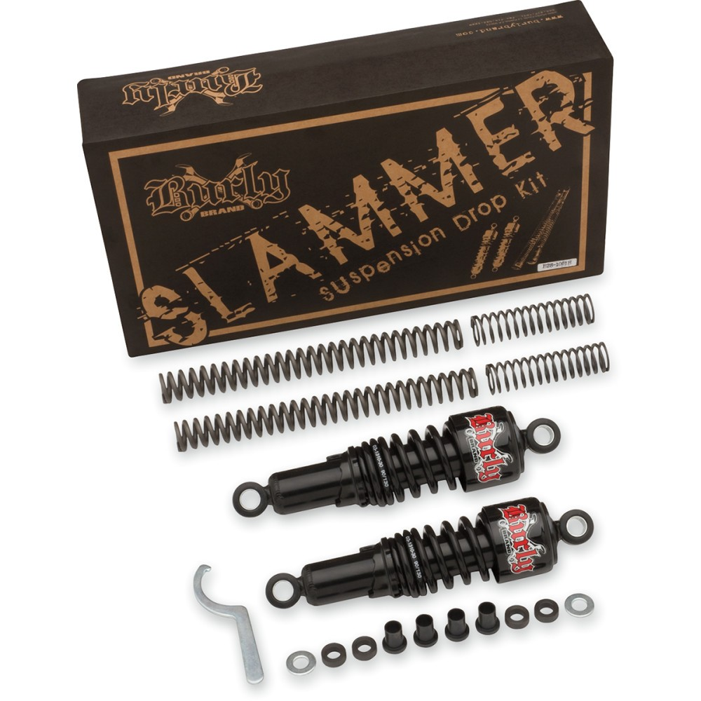 Burly Brand Suspension Kit - Slammer - Chrome - '88 - '03 XL