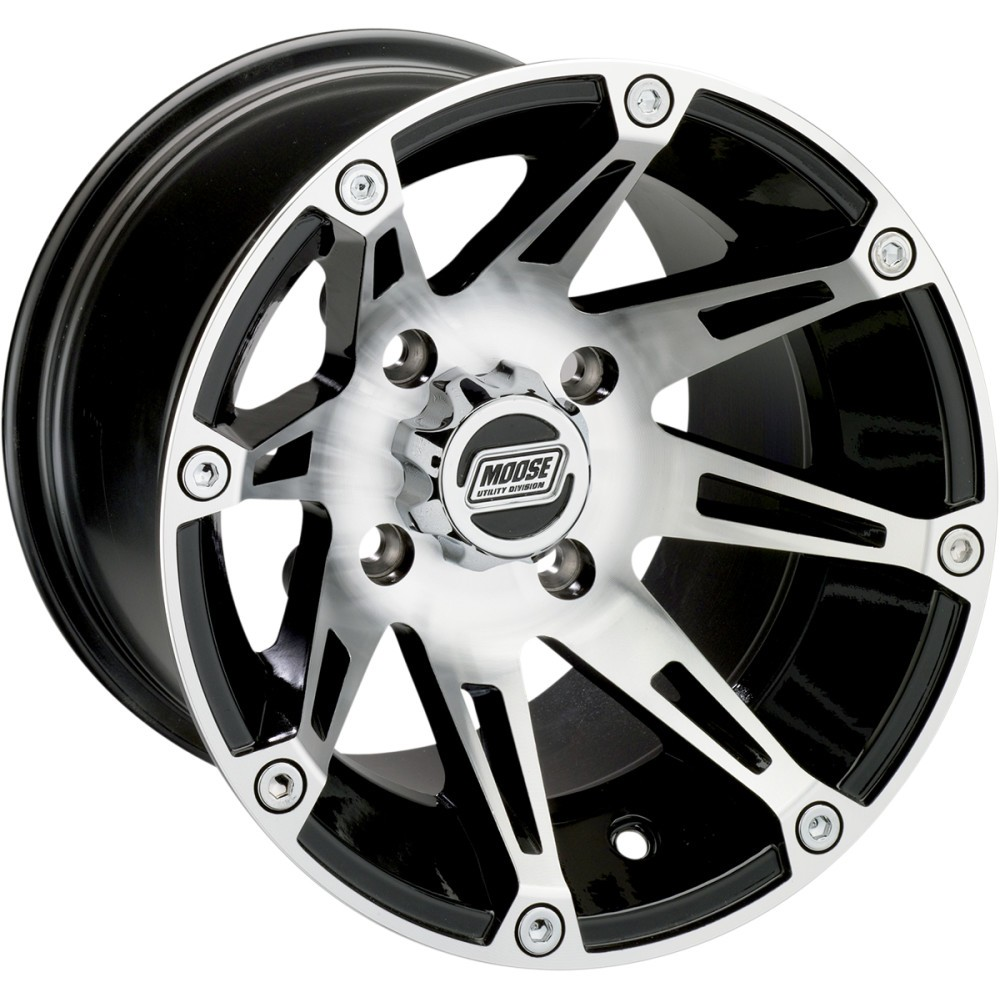 Moose Utility Division Machined Wheel - Standard Lip - 387M - 14X8 - 4/110 - 4+4